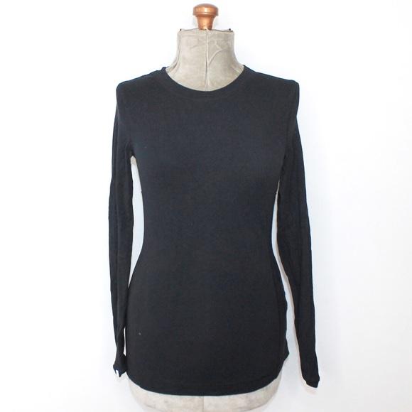 Lululemon Black Long Sleeve Shirt With Ruffles